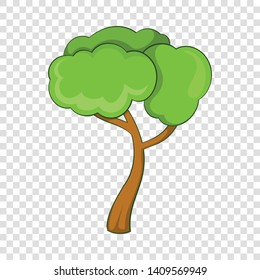 Deciduous tree icon. Cartoon illustration of deciduous tree vector icon for web