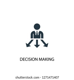 Decision Making icon. Simple element illustration. Decision Making concept symbol design. Can be used for web and mobile.