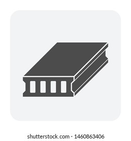 Deck slab vector icon design for construction concept design work.