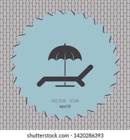 Deckchair icon, vector design element