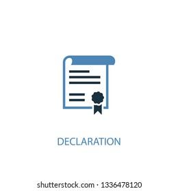 declaration concept 2 colored icon. Simple blue element illustration. declaration concept symbol design. Can be used for web and mobile UI/UX