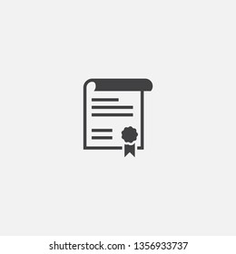 declaration Glyph icon. Simple sign illustration. declaration symbol design. Can be used for web, print and mobile