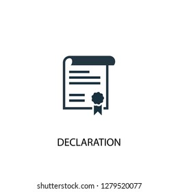 declaration icon. Simple element illustration. declaration concept symbol design. Can be used for web and mobile.