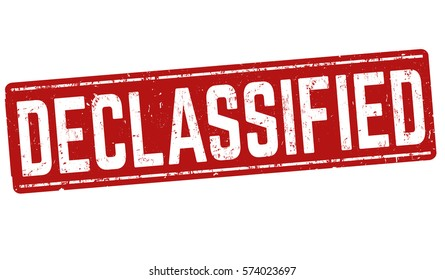 Declassified grunge rubber stamp on white background, vector illustration