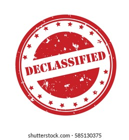 Declassified stamp.Sign.Seal.Logo