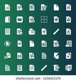 decline icon set. Collection of 36 filled decline icons included File, Files, No border