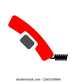 decline mobile-phone calls icon - mobile-phone calls isolated , decline symbol illustration -Vector mobile