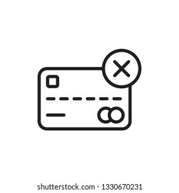 decline payment icon. payment icon vector line style