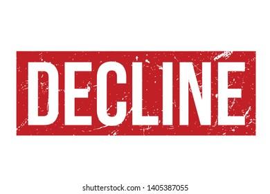 Decline rubber stamp. Red Decline rubber grunge stamp vector illustration - Vector