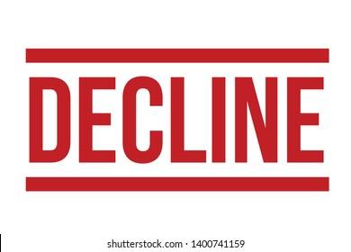 Decline rubber stamp. Red Decline stamp seal – Vector