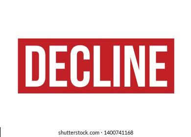 Decline rubber stamp. Red Decline stamp seal vector illustration – Vector