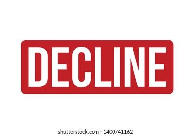 Decline rubber stamp vector illustration. Red Decline stamp seal – Vector
