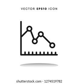 Decline vector icon