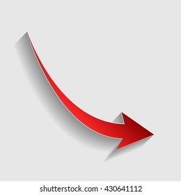 Declining arrow sign