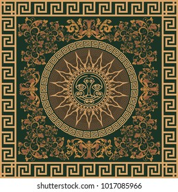 Decor of the Roman Empire. Vector illustration of a luxury ornament in an ancient Roman style. Elegant decorative element.
