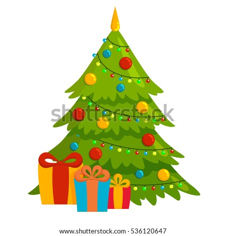 decorated christmas tree with gift boxes - Decorative Christmas Boxes