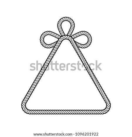 Decorated Rope Frame Shape Triangle Isolated Stock Vector (Royalty ...