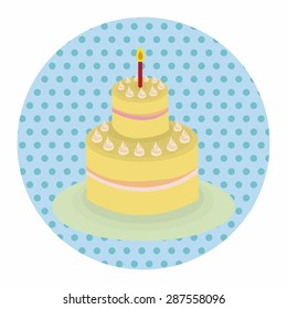 decorating cake elements vector,eps