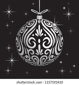 Decoration ball Maori koru white xmas bauble for Christmas tree