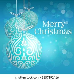 Decoration ball turquoise xmas Maori koru bauble for Merry Christmas