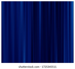 Decoration blue curtain on light background