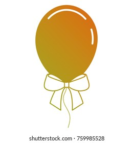 decoration celebration balloon with bow ornament