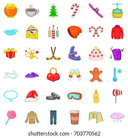 Decoration icons set. Cartoon style of 36 decoration vector icons for web isolated on white background