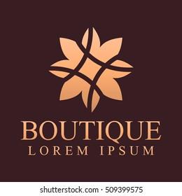 Decoration logo. Interior icon. Boutique logo. Fashion logo. Jewelry logo. Hotel logo. Cosmetics logo. Cosmetics icon. Spa logo. Beauty salon logo. Kaleidoscope logo. Resort and restaurant logo.