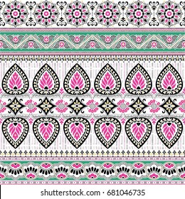 decoration paisley border design