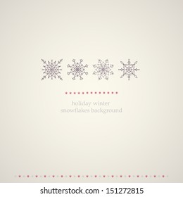 Decoration snowflakes winter background. Vector illustration.