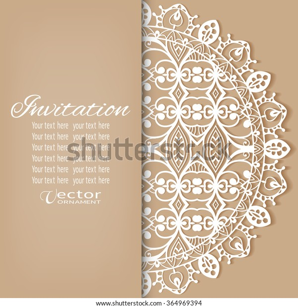 Decorative Abstract Background Wedding Invitation Greeting Stock