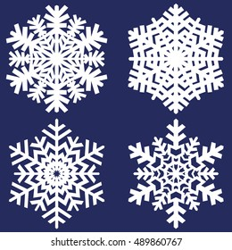 Decorative abstract paper snowflake. Vector illustration.