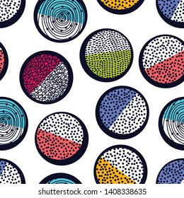 Decorative abstract polka dots in the style of the 60s.