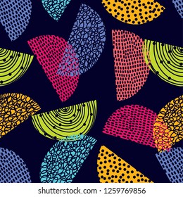 Decorative abstract seamless pattern. Cheerful polka dot vector seamless pattern. Can be used in textile industry, paper, background, scrapbooking.