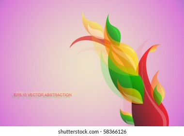 Decorative abstraction. Vector EPS10