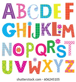 Decorative Alphabet Sets With Colorful Design