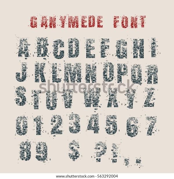 Decorative Alphabet Vector Font Letters Symbols Stock Vector