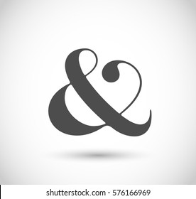 Decorative ampersand vector