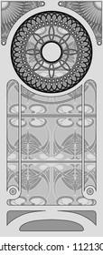 Decorative Art Nouveau Background.