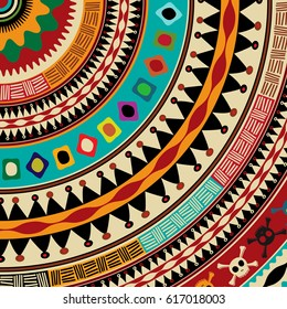 Decorative Aztec mandala icon