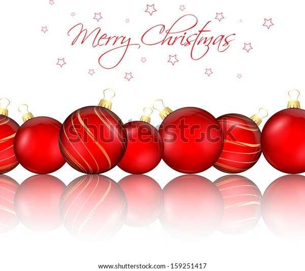 Decorative background with Christmas baubles
