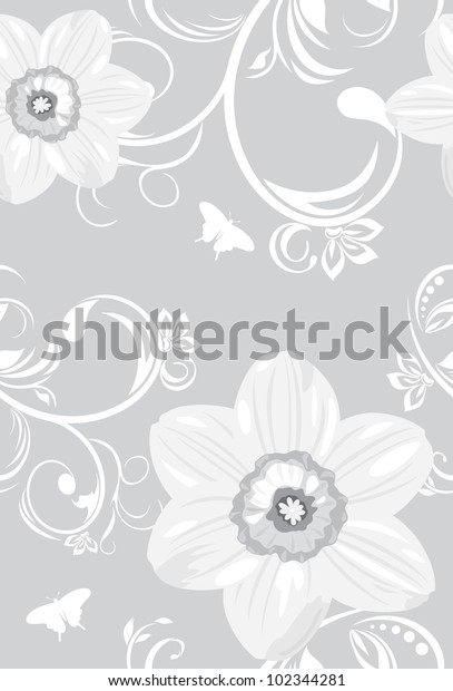 decorative-background-daffodils-vector-6