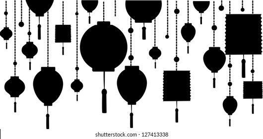 Decorative Background with Lamp