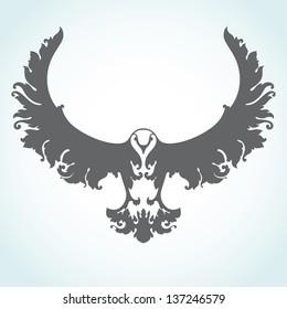 Decorative bird icon