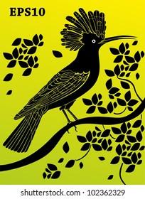 Decorative bird  silhouette