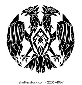 decorative black and white double-headed eagle