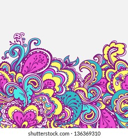 Decorative border. Abstract bright background. Element for invitation card.