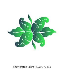 Decorative branch floral symbol element