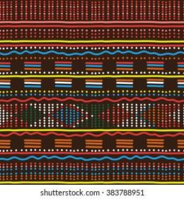 Decorative bright ethnic seamless pattern. Vector illustration.