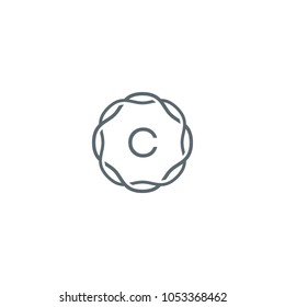 Decorative C Logo Design Template